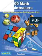100 Math Brainteasers. Arithmetic, Algebra, and Geometry Brain Teasers, Puzzles, Games, and Problems... ( PDFDrive.com ).pdf