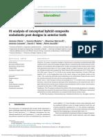 3. FE Analysis of Conceptual Hybrid Composite Endodontic Post Designs in Anterior Teeth
