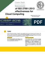 ISO 27001 Analysis ISO Cloud Computing