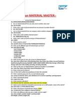 6-Material Master Interview Question With Answers