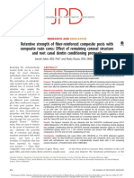 3b. Retentive Strength of Fiber-reinforced Composite Posts With Composite Resin Cores - Effect of Remaining Coronal Structure and Root Canal Dentin Conditioning Protocols