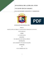 PARCELACIÓN DE TIERRAS Y LOTIZACIÓN DE ÁREAS DE CULTIVO EN ZONAS ERIAZAS - MONOGRAFÍA.docx