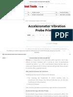 Accelerometer Vibration Probe Principle Instrumentation Tools