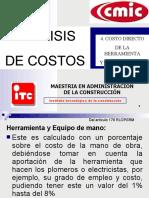 COSTO HORARIO-MAQUINARIA
