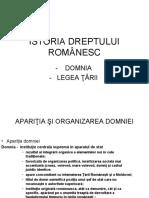 ISTORIA DREPTULUI ROMANESC 1
