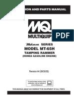 Apisonador Mikasa MT65H Rev 4 Manual