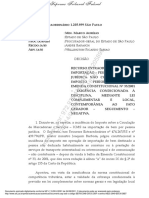 Carro Importado Para Uso Próprio Deve Pagar ICMS, Decide Marco Aurélio