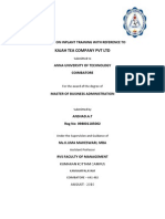 In plant Project report on KAJAH TEA COMPANY PVT LTD