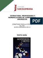 Tema 1.2 Estructura, Propiedades y Nomenclatura de Compuestos Orgánicos
