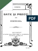 Nicolae Iorga - Sate Și Preoți Din Ardeal