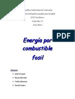 energía por combustible fósil