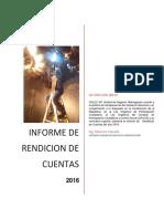 Rendicion de Cuentas 2016