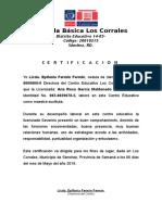 Certificacion Los Corrales