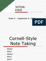 Week 05 Note Taking