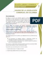 GeneralidadesdelaLegislacionComercialenColombia