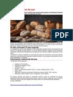 Valor Nutricional Del Pan