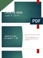 Creer en Jesus