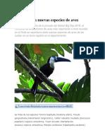 El Huila con nuevas especies de aves.pdf