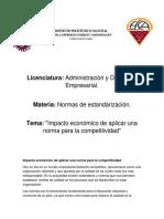 U3A11_Impacto Económico de Aplicar Una Norma Para La Competitividad