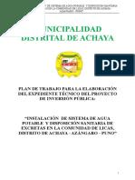 Plan de Trabajo Achaya Licas