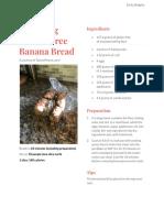 recipe for banana bread - google docs