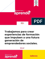 Catálogo Talleres Conferencias Aprende