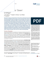 How Green is 'Green' Energy