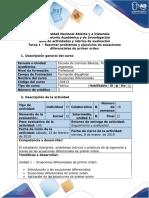 Guia de actividades y rubrica de evaluacion -Tarea  1 - Resolver ejercicios y problemas ecuaciones diferenciales de primer orden.pdf