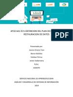 AP10-AA1-EV1-DEFINICION DEL PLAN DE RESPALDO Y RESTAURACION DE DATOS .docx