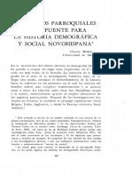 LOS LIBROS PARROQUIALES COMO FUENTE PARA LA HISTORIA DEMOGRÁFICA Y SOCIAL NOVOHISPANA