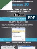 Ejercicio 11 - Alcance de Variables (Variables Locales y Globales)