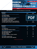 Ollie Marchon's Ripped for Summer 6 Week Plan