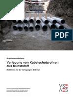Verlegung Von Kabelschutzrohren Aus Kunststoff