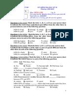 Đề kiểm tra hoc kỳ 2 môn tiếng Anh lớp 9 năm học 2018-2019  (Chính thức) và Đáp án.docx