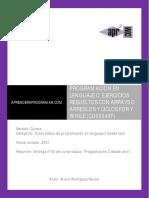 ejercicios resueltos arrays arreglos bucles for while en c.pdf