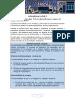 """Evidencia 7_ Agenda de Trabajo """"Solución de Conflictos Para Equipos de Trabajo Interdisciplinarios"""""""