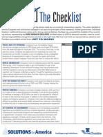 Post Election Checklist