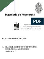 10. Reactor Continuo Perfectamente Agitado - Un Solo Reactor