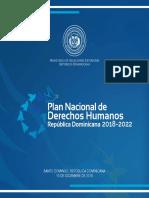 Plan Nacional de Derechos Humanos de La Republica Dominicana 2018 - 2022