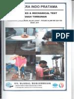 Properties & Mechanical Test Tanah Timbunan