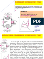 Refrigeration Cycles Real Vapor Compression Cycle