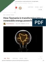 How Tasmania is Transforming Into a Renewable Energy Powerhouse - Create Digital Magazine