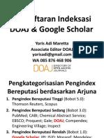 Indeksasi DOAJ Google Scholar
