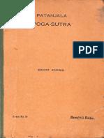 The Patanjala Yoga Sutra With Vyasa Commentary 1949 - Bangali Baba.pdf