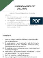 Derechos Fundamentales y Garantias