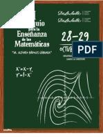 Memorias Coloquio XIII Enseñanza de las matemáticas