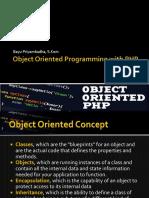 Pertemuan 9 PHP OOP