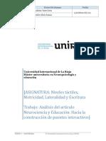 Analisis de Un Articulo Cientifico de Neurociencia