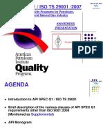 API Spec Q1 ISO TS 29001