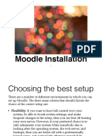 Slide 1 Moodle Installation